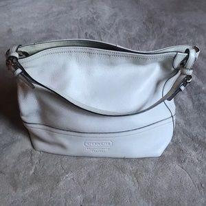 Cream Coach Bag